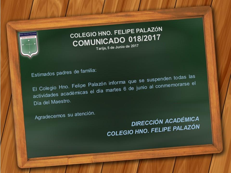 Comunicado 018-2017